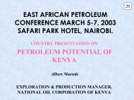 east african petroleum conference march 5-7, 2003 safari ... - Energy
