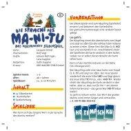 Die Sprache des Manitu-40836 - Drei Magier Spiele
