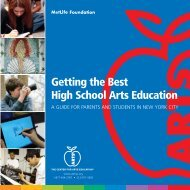 Getting the Best High School Arts Education - The Center for Arts ...