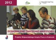 Doskonalenie zawodowe nauczycieli - Wojewódzki Urząd Pracy w ...
