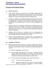 Contract Procedure Rules - North Norfolk District Council
