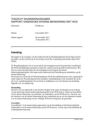 managementsamenvatting onderzoek grote gemeente 4-11-2011