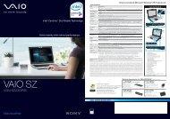 VGN-SZ23GP/B - Sony Style