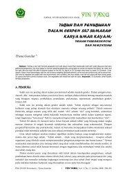 tubuh dan penubuhan - YINYANG STAIN Jurnal Studi Gender & Anak