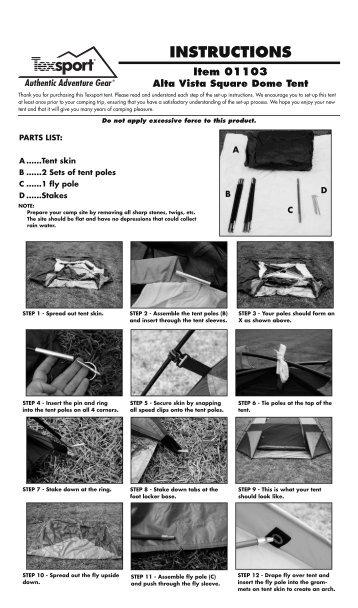 01103 Alta Vista Tent - Texsport