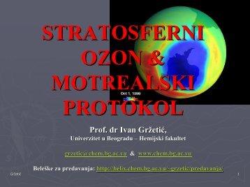 STRATOSFERNI OZON I MONTREALSKI PROTOKOL.pdf - Hemijski ...