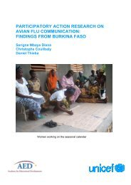 Findings from Burkina Faso - Avian and Pandemic Influenza ...