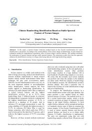 Chinese Handwriting Identification Based on Stable Spectral ... - inass
