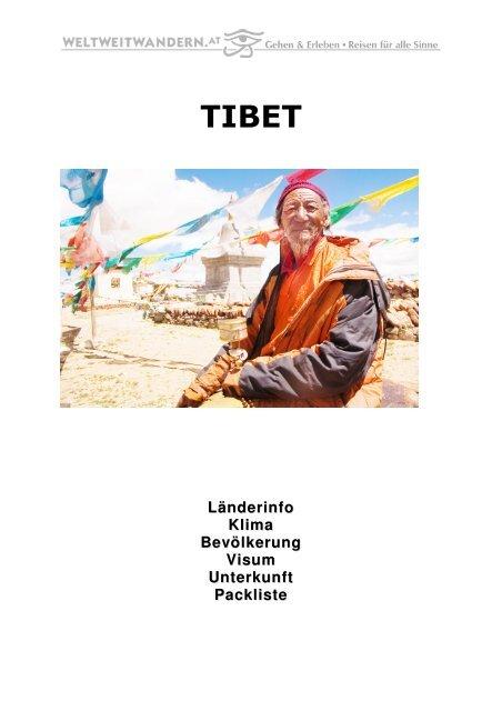 Infomappe Tibet - Weltweitwandern