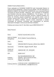 Currículo - Adarlete - Confederação Brasileira de Canoagem