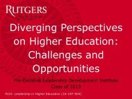 Diverging Perspectives on Higher Education - Center for ...