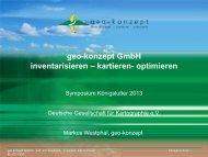 Geo-konzept GmbH - Kommission Angewandte Kartographie