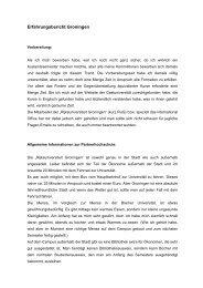 Erfahrungsbericht Groningen