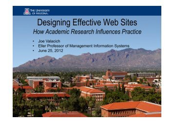 Designing Effective Web Sites - ITI