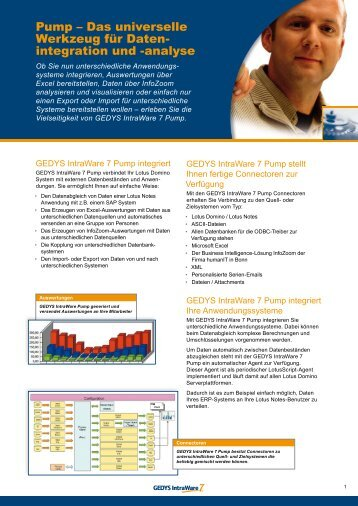 Pump - WebGate Consulting AG