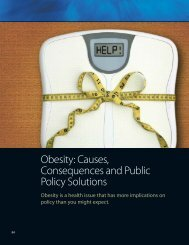 Obesity: Causes, Consequences and Public Policy Solutions