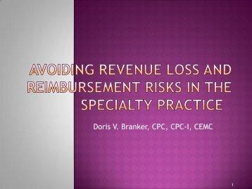 Revenue Loss and Reimbursement Risks to the ... - SuperCoder