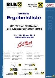 Ergebnisliste - Raiffeisen Landesbank Tirol