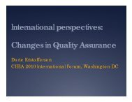 International Perspectives: Changes in Quality Assurance (January ...