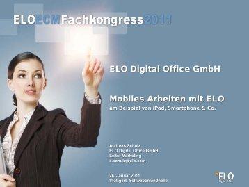 Mobiles Arbeiten mit ELO ELO Digital Office GmbH