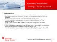 Kurzanleitung Internetbanking - und Stadtsparkasse Erding - Dorfen