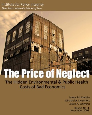 The Price of Neglect - Institute for Policy Integrity