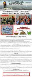 You're Invited To - Middlesex Newspaper