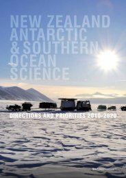 The New Zealand Antarctic and Southern Ocean Science Directions ...