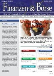 Elexis konkretisiert Ausblick für 2008 - Finanzen und Börse