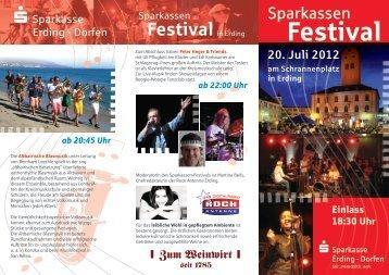 Festival - und Stadtsparkasse Erding - Dorfen