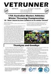 Vetrunner November 2012 - ACT Veterans Athletics Club