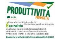 slide produttivita' e la detassazione dei salari 2013 - Cisl