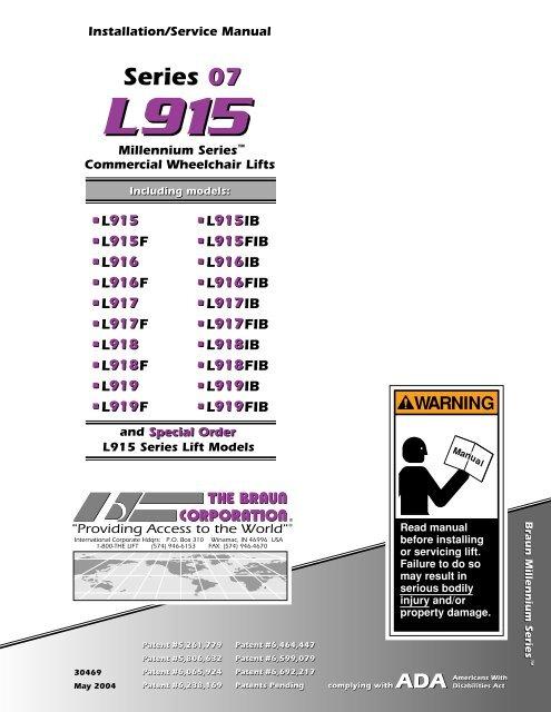 chair lift wiring schematic 07 series 07 braun corporation  07 series 07 braun corporation