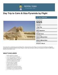 Day Trip to Cairo & Giza Pyramids by Flight - Memphis Tours Egypt
