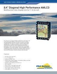 "8.4"" Diagonal High Performance AMLCD - Elbit Systems of America"