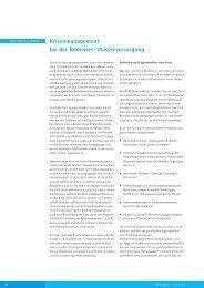 Krisenmanagement bei der Bodensee-Wasserversorgung Martin ...