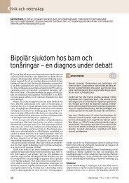 Bipolär sjukdom hos barn och tonåringar – en diagnos under debatt