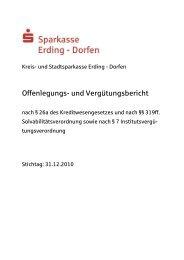 Offenlegungs- und Vergütungsbericht - und Stadtsparkasse Erding ...