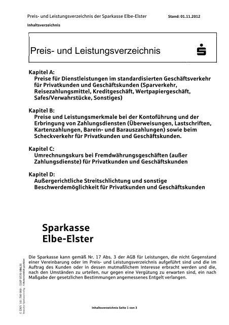 Bbbank Preis- Und Leistungsverzeichnis