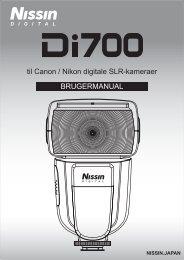 til Canon / Nikon digitale SLR-kameraer ... - Nissin Japan