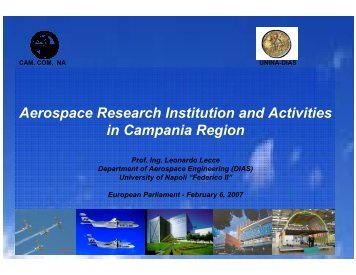 Aerospace Research Institution and Activities in Campania Region