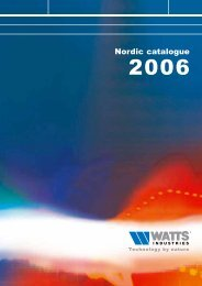 Nordic catalogue - Watts Industries