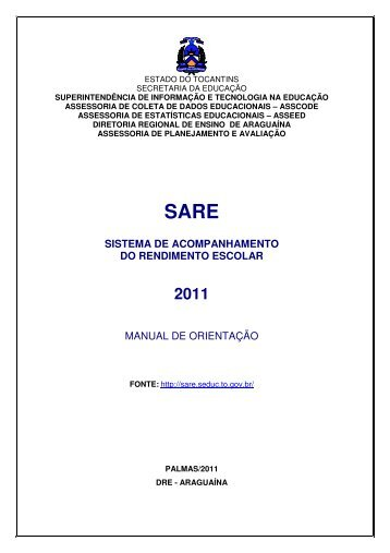 sistema de acompanhamento do rendimento escolar manual de ...