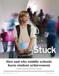 How and why middle schools harm student ... - Education Next