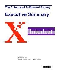 The Automated Fulfillment Factory Executive Summary