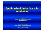Applicazioni della fisica in medicina - Masterclass 2007 - Infn