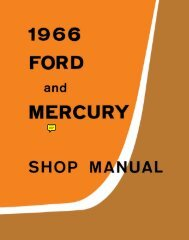 DEMO - 1966 Ford and Mercury Shop Manual - ForelPublishing.com