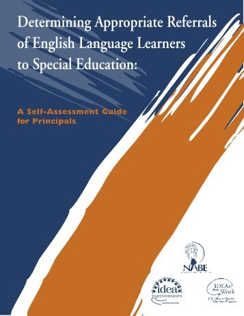 Determining Appropriate Referrals of English Language Learners to ...