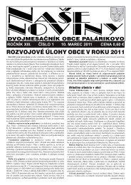 Číslo 1/2011 - Obec Palárikovo