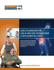 guide d'élaboration d'un code de directives pratiques ... - WorkSafeNB